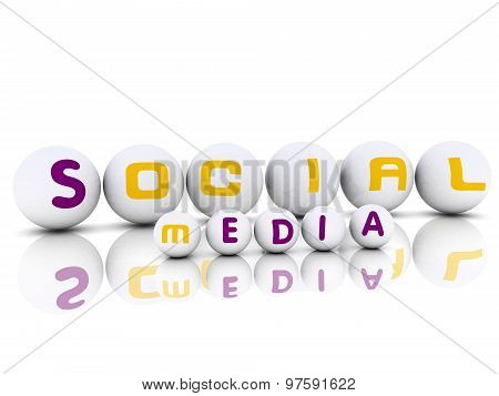 3D Effect Spheres With Label Social Media
