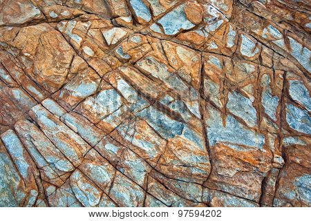 Beautiful Stones, Rocks In Sunlight With Interresting Harmonic Structure