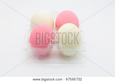 Preserved organic pink eggs and salted eggs