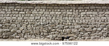 Abstract Stone Wall Structure In Ladakh