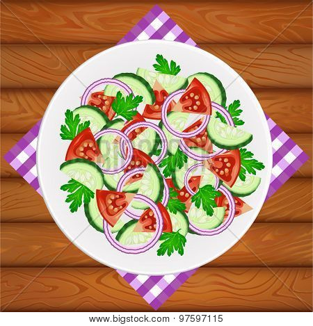 Salad Tomato Cucumber Onion