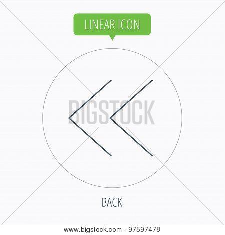 Back arrow icon. Previous sign.