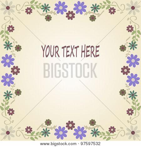 Floral Vintage Background, Invitation Or Greeting Card.