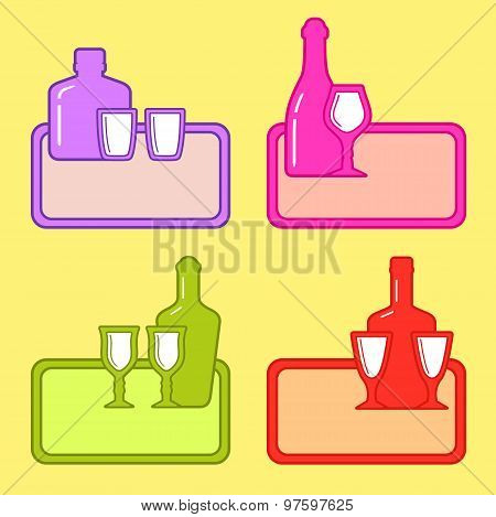 restaurant background with alcohol beverage