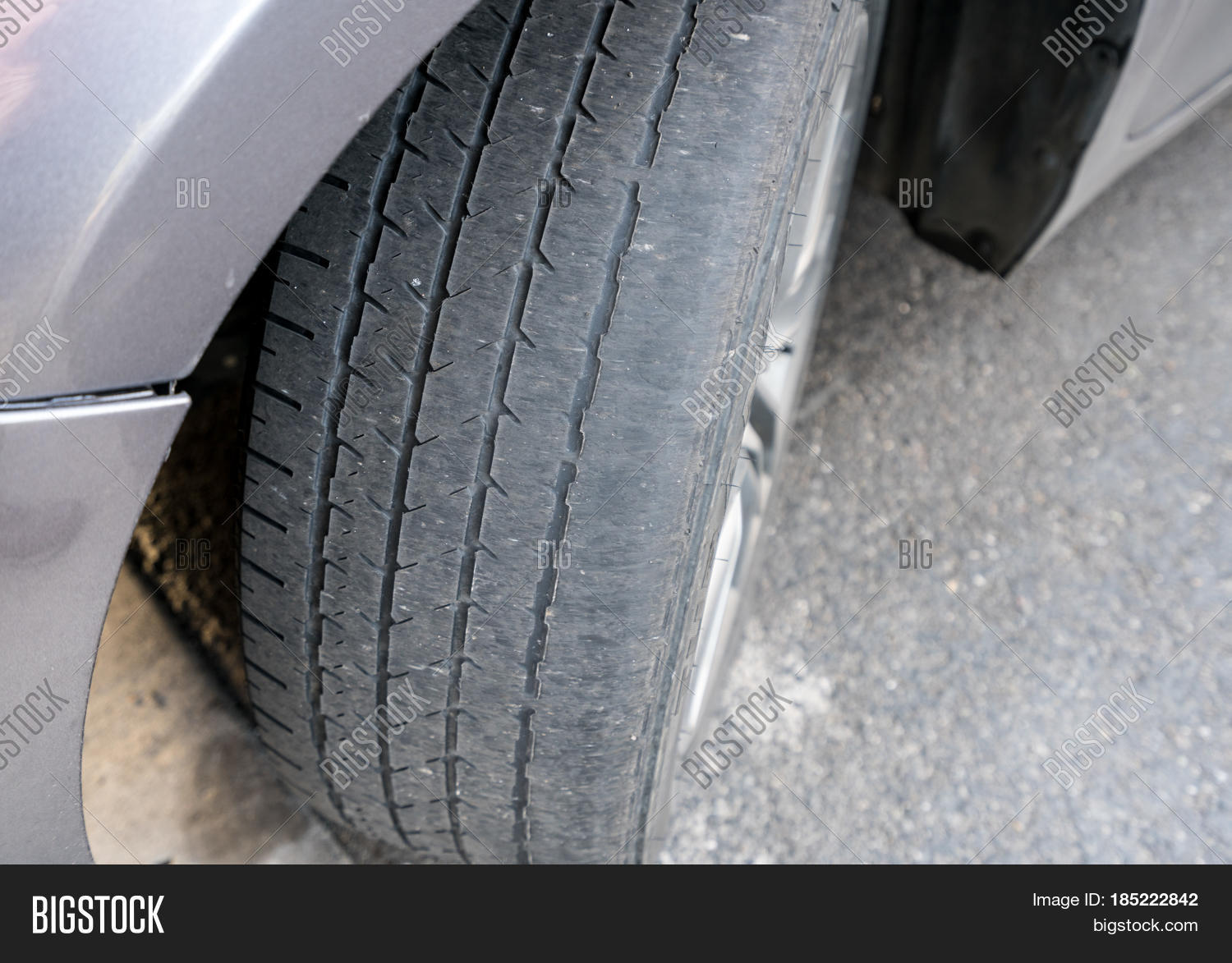 Front Wheel Tires Tyres On Car Image Photo Bigstock