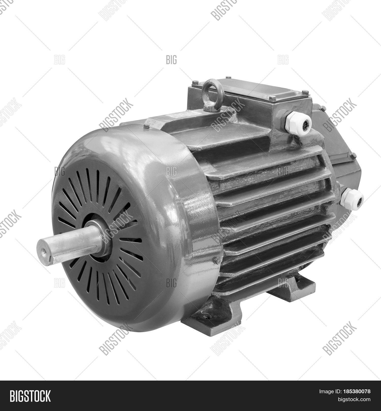 Industrial Electric Motor Isolated Image Photo Bigstock