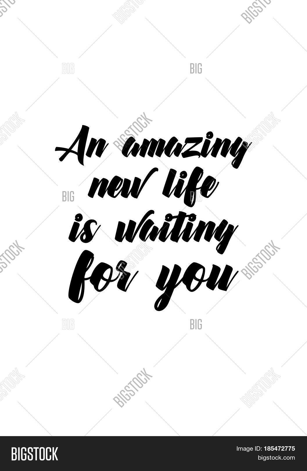 Quotes About New Life Lettering Quotes Motivation About Vector & Photo  Bigstock