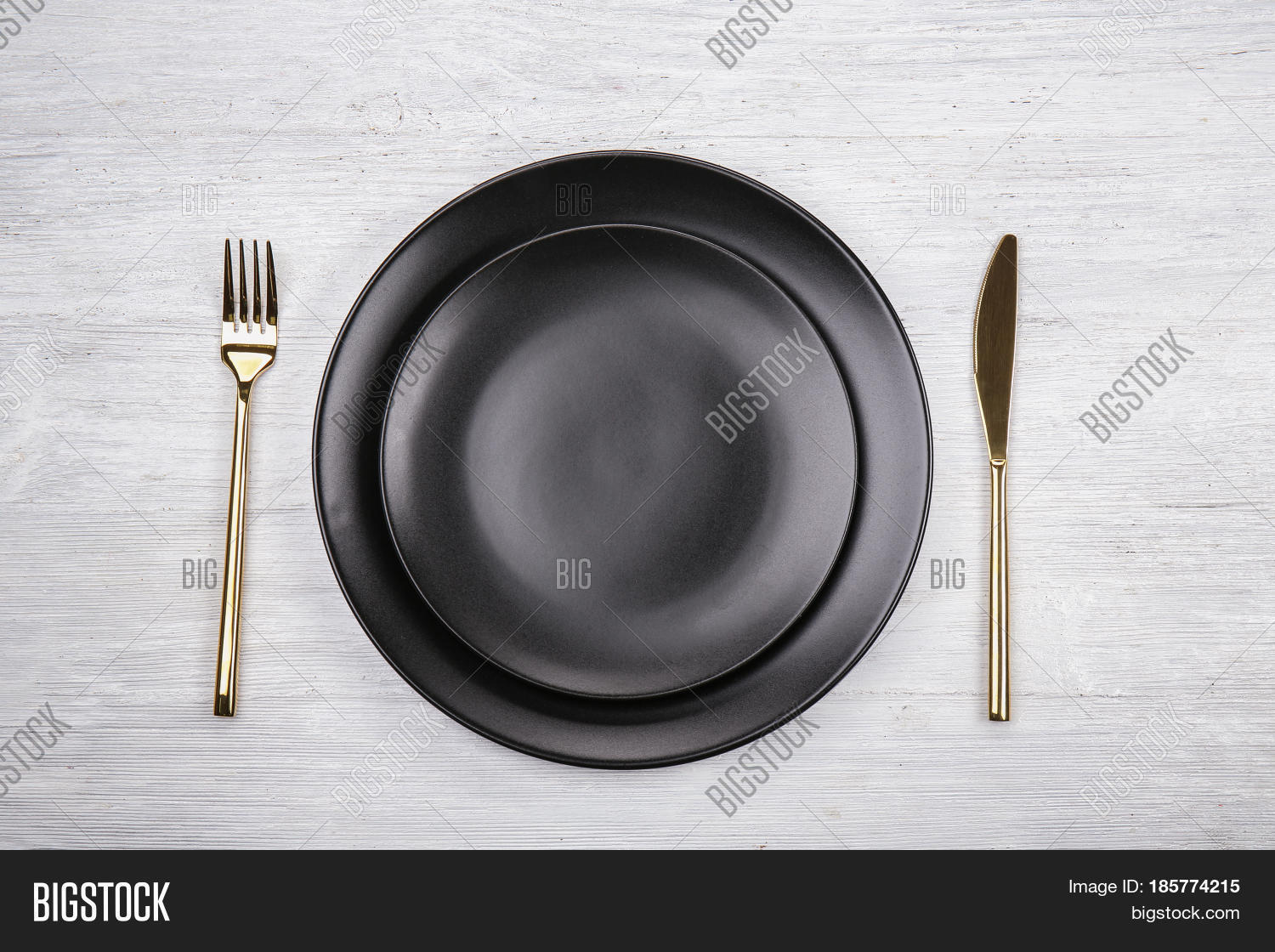 Table Setting One Person On Wooden Image Photo Bigstock