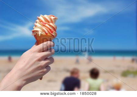 Icecream On The Beach