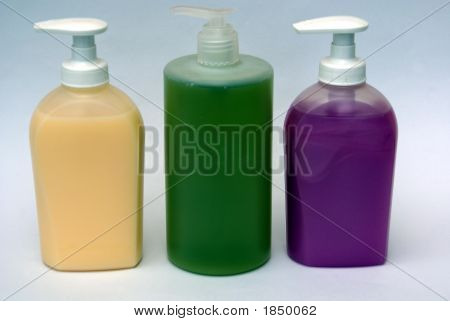 Bottles Or Containers Of Hand Wash/Liquid Soap. Hygiene.