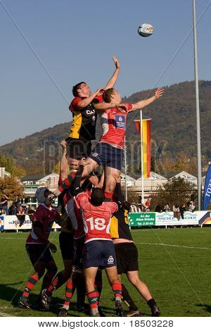 HEIDELBERG, Germany - October 18: Rugby European Championship U21 - Germany vs. Portugal October 18, 2008 in Heidelberg, Germany.