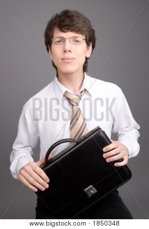 Young Businessman Smiling Portrait