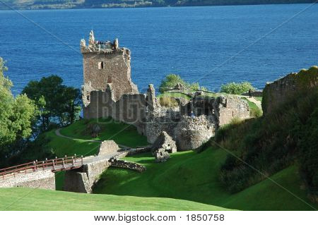 Loch Ness And Urquhart Castle, Scotland