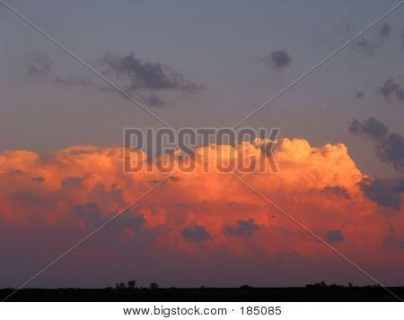 Orange & Grey Sunset