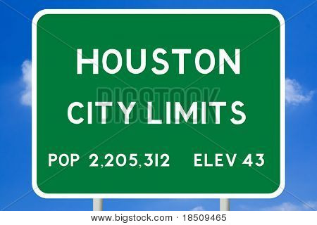 Houston City Limits Sign