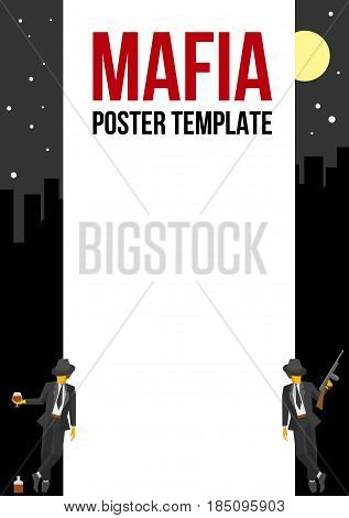 Vector poster of