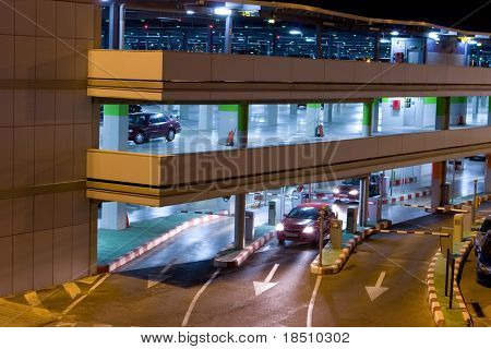 Night Time Parking at the Airport Parking Garage
