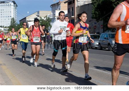 VALENCIA, SPAIN - NOVEMBER 15:  Runners of the IX Vuelta a Pie Es Posible 5K road race on November 15, 2009 in Valencia, Spain.