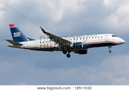 WASHINGTON, DC - MAY 5: U.S. regulators are demanding that US Airways auction off slots at Reagan Airport, to create openings for other airlines. US Airways aircraft on May 5, 2010 in Washington, DC.