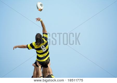 VALENCIA, SPAIN - JULY 3: Rugby teams participate in the City of Valencia XIV International Beach Rugby Competition on July 3, 2010 in Valencia, Spain.