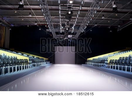 Catwalk before a fashion show