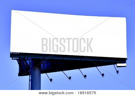Blank big billboard over blue sky, put your text
