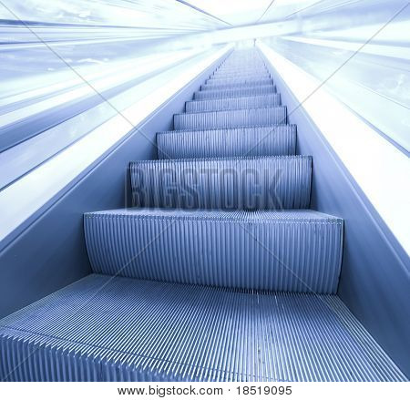 Escalator in Modern Airport