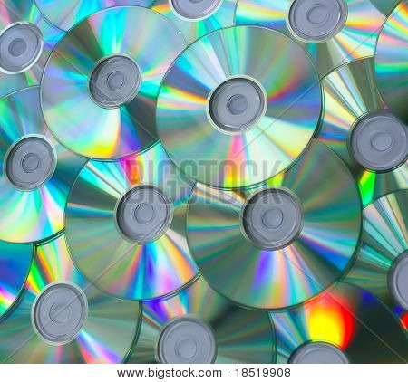 Empty compact discs