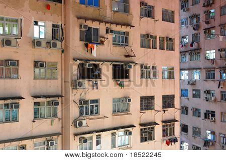 Hong Kong public housing apartment block