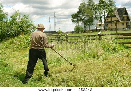 Old Man With Scythe