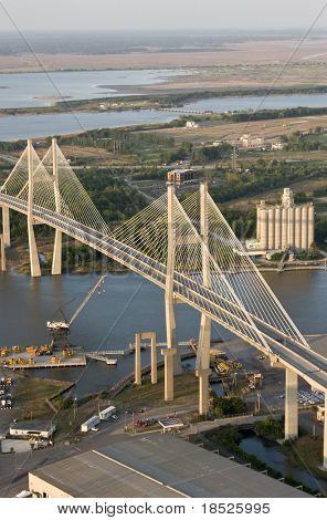suspension bridge over savannah river, ga