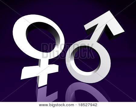 Male and Female Couple Symbol