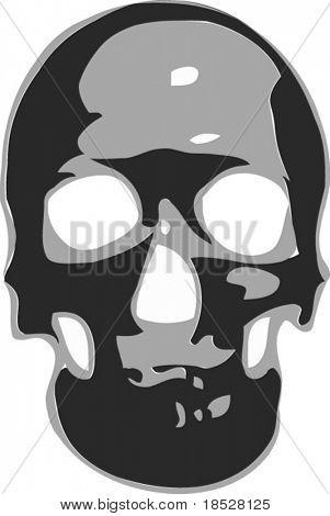 Skull in black and white vector format