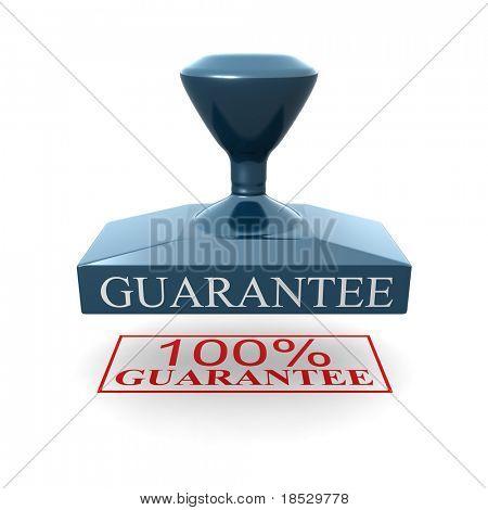 100 percent guarantee silver seal 3d illustration