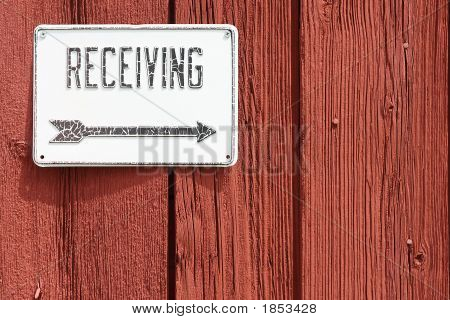Barn Receiving Sign
