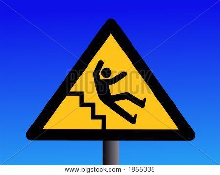 Slippery Steps Sign