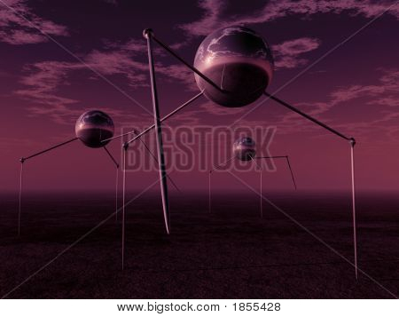 Trípodes de bolas alien