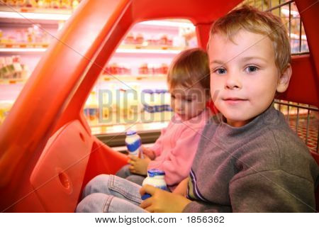 Children In The Toy Automobile