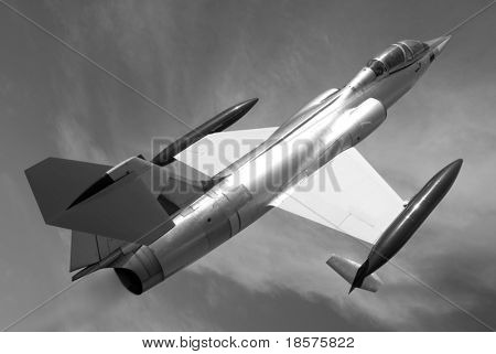 The Lockheed F-104 Starfighter is a single-engine, high-performance, supersonic interceptor aircraft.