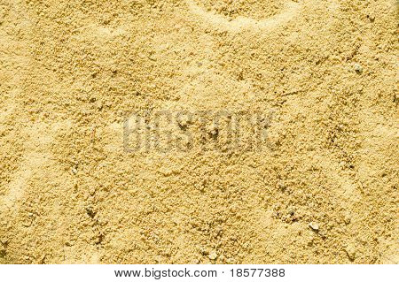texture of yellow sand close up
