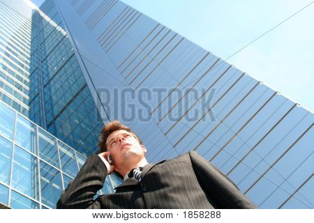 Businessman Using A Mobile Phone