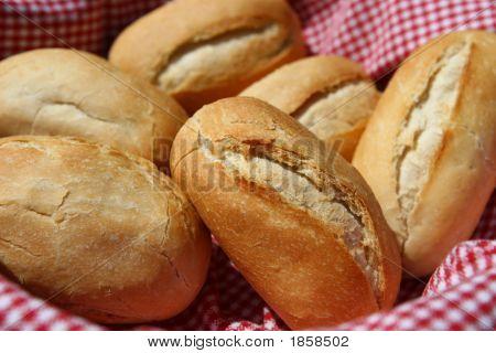 Bread Rolls In Basket