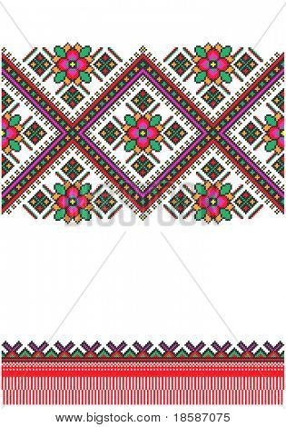 embroidered good like handmade cross-stitch Ukraine pattern