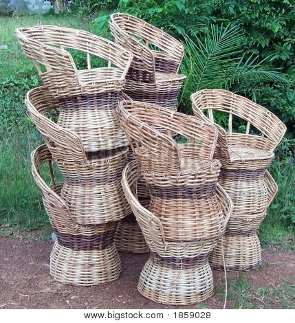 Bamboo Cane Chairs