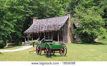 Vagão em uma fazenda
