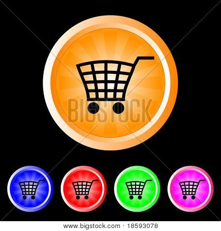 Vector colorful buy buttons