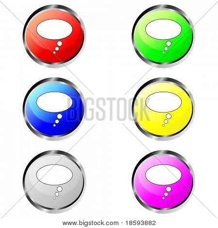 Blank bubble vector buttons
