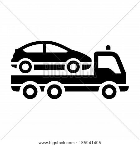 tow truck, icon isolated on white background flat style.
