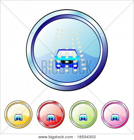 Car wash vector buttons