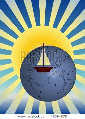 Sail around the world